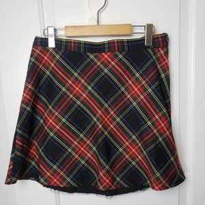 Hell Bunny  Plaid Ruffle Skirt - Size Large